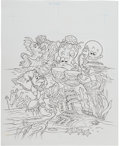 Animation Art:Production Drawing, The Little Mermaid Sebastian Book Illustration Original ArtGroup (Walt Disney, 1994).... (Total: 2 Original Art)