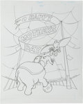 Animation Art:Production Drawing, Dumbo Book Illustration Original Art Group (Walt Disney,1994).... (Total: 3 Original Art)