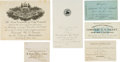 Political:Small Paper (pre-1896), Ulysses S. Grant: Group of Six Printed Reception Invitations,1879-1880. ... (Total: 6 )