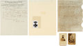 Photography:CDVs, Confederate Lieutenant General Stephen Dill Lee: Two Cartes de Visite and Signed Documents.... (Total: 4 )