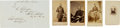 Photography:CDVs, Union Generals: Four Cartes de Visite and One Clipped Signature.... (Total: 5 )