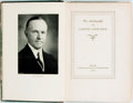 Books:Biography & Memoir, Calvin Coolidge. The Autobiography of Calvin Coolidge. NewYork: Cosmopolitan Book Corporation, 1929. Third trade ed...