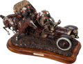 "Transportation:Automobilia, ""Passing Of The Horse"" Bronze Sculpture By Stanley Wanlass..."
