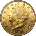 Proof Liberty Double Eagles, 1898 $20 PR55 PCGS. CAC....