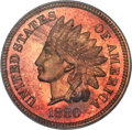 Proof Indian Cents, 1880 1C PR67 Red PCGS....