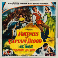 "Fortunes of Captain Blood (Columbia, 1950). Six Sheet (79"" X 80""). Swashbuckler"