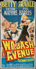 "Movie Posters:Musical, Wabash Avenue (20th Century Fox, 1950). Three Sheet (41"" X 79""). Musical.. ..."