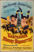 "Movie Posters:Musical, Gentlemen Marry Brunettes (United Artists, 1955). Poster (40"" X 60"") Style Z. Musical.. ..."