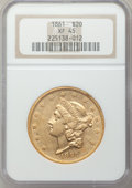 Liberty Double Eagles, 1861 $20 XF45 NGC. 10-Piece Lot.... (Total: 10 coins)