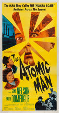 "Movie Posters:Science Fiction, The Atomic Man (Allied Artists, 1956). Three Sheet (41"" X 79"").Science Fiction.. ..."