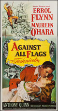 "Movie Posters:Swashbuckler, Against All Flags (Universal International, 1952). Three Sheet (41"" X 79""). Swashbuckler.. ..."