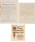 Miscellaneous:Ephemera, [Albany Army Relief Bazaar]. Group of Three Documents... (Total: 3 )