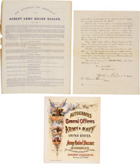 [Albany Army Relief Bazaar]. Group of Three Documents