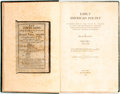 Books:Reference & Bibliography, [Bibliography]. Oscar Wegelin. Early American Poetry. ACompilation of the Titles of Volumes of Verse and Broadsid...