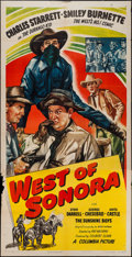 "Movie Posters:Western, West of Sonora (Columbia, 1948). Three Sheet (41"" X 80""). Western.. ..."