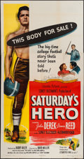 "Movie Posters:Drama, Saturday's Hero (Columbia, 1951). Three Sheet (41"" X 79""). Drama....."