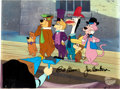 Animation Art:Production Cel, The Good, the Bad, and the Huckleberry Hound Production CelSigned by Bill Hanna and Joseph Barbera (Hanna-Barbera, 19...