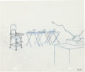 Animation Art:Production Drawing, The Simpsons Layout Drawing Group (Fox, 1990s-2000s)....(Total: 5 Items)