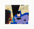 """Animation Art:Production Cel, The New Superman/Batman Adventures """"Legends of the DarkKnight"""" Production Cel (Warner Brothers, 1998)...."""