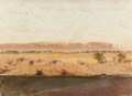 Paintings, LOCKWOOD DE FOREST (American, 1850-1932). Desert Plains (pair). Oil on board. 8-1/2 x 12 inches (21.6 x 30.5 cm) (larger... (Total: 2 Items)