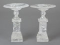 Decorative Arts, Continental:Other , A NEAR PAIR OF CONTINENTAL ROCK CRYSTAL TAZZA, first half 20thcentury. 9-3/8 inches high (23.8 cm) (taller). ... (Total: 2 Items)