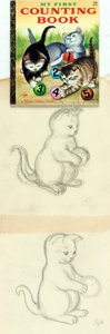 Books:Original Art, Garth Williams (1912-1996), illustrator. Two Pencil PreliminaryDrawings for My First Counting Book, circa 1956. ...