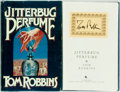 Books:Literature 1900-up, Tom Robbins. SIGNED. Jitterbug Perfume. Bantam Books, 1984.First edition. Signed on an autograph card mounted...