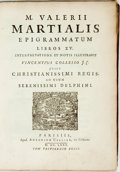 Books:Early Printing, Marcus Valerii. Martialis Epigrammatum Libros XV.Interpretatione et Notis Illustravit Vincentius Collesso J. C.Jussu C...