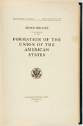Books:Americana & American History, Charles C. Tansill, arranger. 69th Congress, 1st Session, HouseDocument No. 398 Documents Illustrative of the Formation...