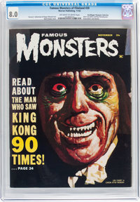 Famous Monsters of Filmland #20 Don/Maggie Thompson Collection pedigree (Warren, 1962) CGC VF 8.0 Off-white to white pag...