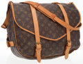 Luxury Accessories:Bags, Louis Vuitton Classic Monogram Canvas Saumur GM Messenger Bag. ...
