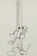 Animation Art:Production Drawing, The Mad Doctor Mickey Mouse Production Drawing Animation Art(Walt Disney, 1933)....