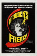 "Movie Posters:Hitchcock, Frenzy (Universal, 1972). One Sheet (27"" X 41""), Uncut Pressbook(28 Pages, 8.75"" X 13.75""), & Photos (2) (8"" X 10""). Hitchc...(Total: 4 Items)"