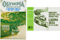 Transportation:Automobilia, Set of 2 1970's Racing Posters From Laguna Seca ...