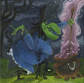 Mainstream Illustration, Untitled-068 . Witch Hazel with cauldron . Oil on canvas .12 x 12 in.. ...
