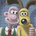Mainstream Illustration, Untitled-075 . Wallace and Gromit . Oil on canvas . 12 x 12in.. ...