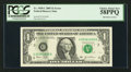 Error Notes:Ink Smears, Fr. 1928-C $1 2003 Federal Reserve Note. PCGS Choice About New58PPQ.. ...