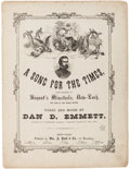 Miscellaneous:Ephemera, [Ulysses S. Grant]. Nine Copies of Period Sheet Music.... (Total: 9)