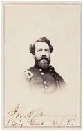 Autographs:Military Figures, General John Brannan Signed Carte de Visite. ...