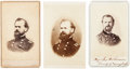 Autographs:Military Figures, General James B. McPherson Signature with Three Civil War-Period Cartes de Visite.... (Total: 4 )