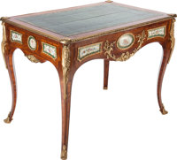 A LOUIS XV-STYLE KINGWOOD AND GILT BRONZE MOUNTED CENTER TABLE WITH PORCELAIN INSETS, first quarter 20th century 3