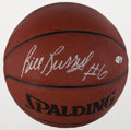 Basketball Collectibles:Balls, Bill Russell Signed Basketball....