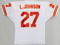 Football Collectibles:Uniforms, Larry Johnson Signed Kansas City Chiefs Jersey....