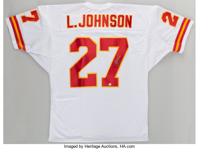 best loved 63a41 21780 Larry Johnson Signed Kansas City Chiefs Jersey.... Football ...