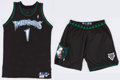 Basketball Collectibles:Uniforms, 2002-03 Rod Strickland Game Worn Minnesota Timberwolves Uniform -Team Letter. ...