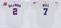 Baseball Collectibles:Uniforms, 2000-01 Tomas de la Rosa & Perry Hill Game Worn Montreal ExposJerseys Lot of 2....