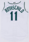 Baseball Collectibles:Uniforms, 2001 Larry Rothschild Tampa Bay Devil Rays Game Worn Jersey....