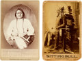 American Indian Art:Photographs, Sitting Bull: Two 1880s Cabinet Photos. ... (Total: 2 Items)