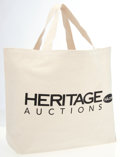 "Luxury Accessories:Bags, Heritage Auctions Canvas Tote Bag. Dimensions: 16"" Width x 15""Height x 5"" Depth, 8"" Shoulder Drop. This bag is in New Co..."
