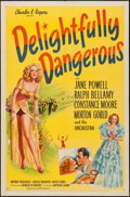 "Movie Posters:Musical, Delightfully Dangerous (United Artists, 1945). One Sheet (27"" X41""). Musical.. ..."